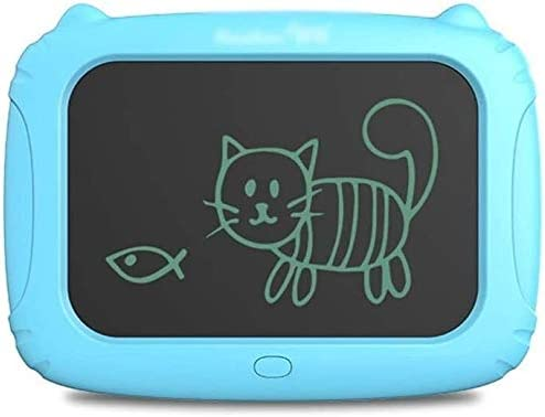 漫画色の手書きLCD手書きボード子供の製図板グラフィティボード書込みタブレットLCDライティングタブレットキッズ(色:ブルー、サイズ:10.5インチ)