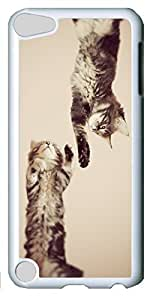 Fashion Customized Case for iPod Touch 5 Generation White Cool Plastic Case Back Cover for iPod Touch 5th with CAT hjbrhga1544