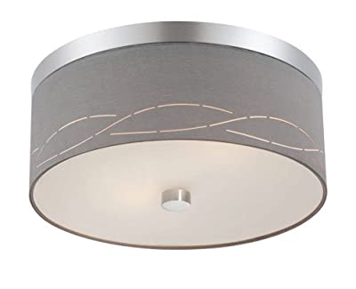 Philips Forecast FG0103836 Silver Laser Ceiling Fixture, Satin Nickel