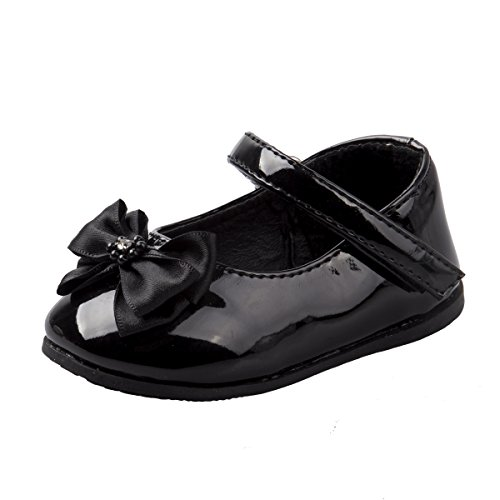 'Josmo Girls Patent Dressy Shoe With Bow, Black, Size (Dressy Toddler Shoes)