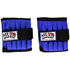 All Pro Weight Adjustable Ankle Weights, 5 lb pair (up to 2½ lbs per ankle)
