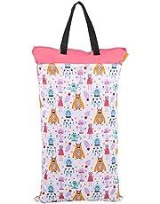 Large Hanging Wet Dry Cloth Diaper Pail Bag for Reusable Diapers or Laundry Reusable Hanging Wet Dry Cloth Diaper Bag(#5)