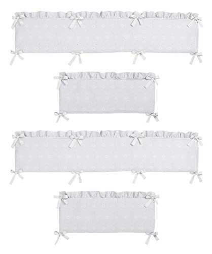 - Sweet Jojo Designs White Eyelet Collection Crib Bumper
