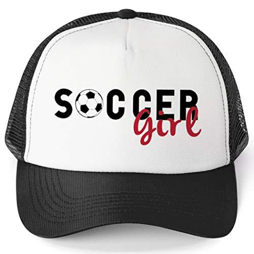ChalkTalkSPORTS Soccer Trucker Hat   Soccer Girl   Black