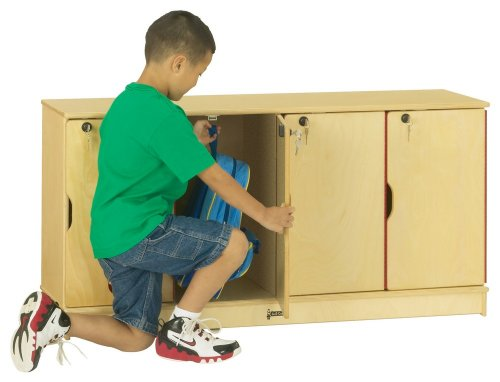 Thriftykydz Stacking Lockable Lockers - 4 Sections - Single Stack - School & Play Furniture - Single Stack Lockable Lockers