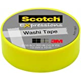 Scotch Expressions Washi Tape, .59-Inches x 393-Inches, Yellow, 6 Rolls/Pack