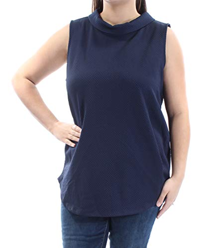 (Alfani Women's Mock-Neck Top (XL, Blue))