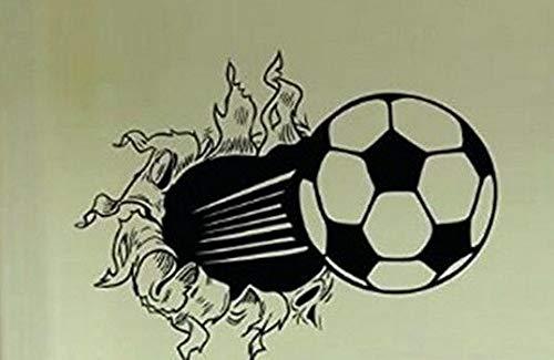 Waldenn Soccer Ball Ripping Through Wall Vinyl Decal Sticker Home Decor Words Lettering | Model DCR - 1929 ()