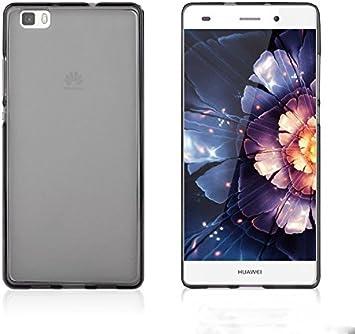 LONVIPI® Huawei P8 Lite Funda NEGRA Silicona TPU Funda Cover Case ...