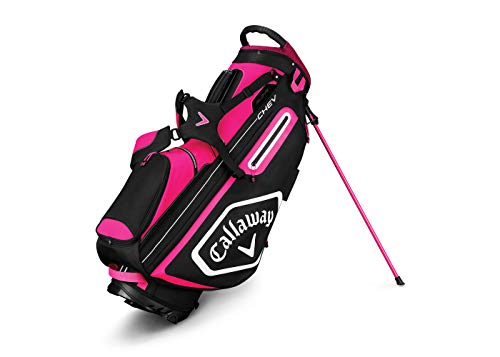 - Callaway Golf 2019 Chev Stand Bag, Pink/White/Black
