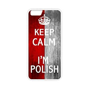 Special 5.5inches Keep Calm I'm Polish Wood Polish Flag Pattern iPhone 6 Plus TPU(Laser Technology) Durable Back Case Shell - For iPhone 6 Plus