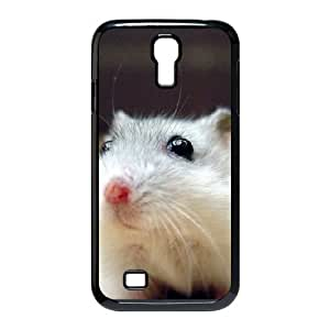 Samsung Galaxy S4 Cases Cute Hamster Black Eyes Protective Cute for Girls, Case for Samsung Galaxy S4 for Girls Jackalondon, [Black]