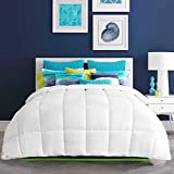 Alternative Comforter - HARBOREST Lightweight Down Alternative Comforter - Plush Microfiber Fill - All-Seson White Comforter Duvet Insert with Corner Tabs, King