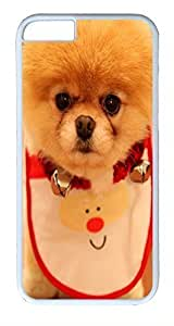ACESR Cute Puppy iPhone 6 Hard Shell Case Polycarbonate Plastics Lightweight Case for Apple iPhone 6(4.7 inch) White