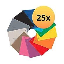 Oxford 400116200 Top File - Carpetas de encuadernación (25 unidades, 390 g, extrafuertes), color 12 colores DIN A4