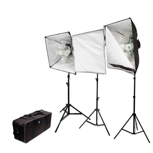 LimoStudio 3000 Watt Photography Portable Studio Continuous Lighting Light Kit with Carrying Case, LMS386