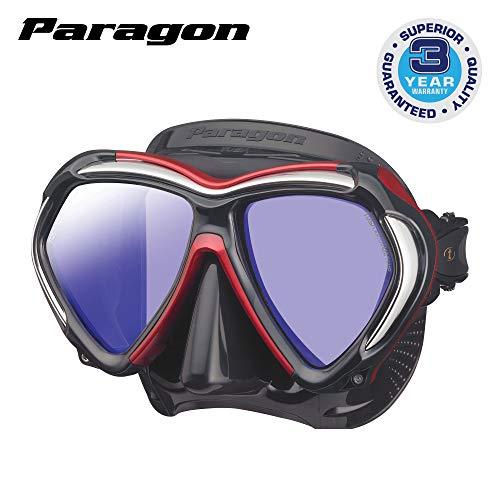 TUSA M-2001 Paragon Scuba Diving Mask, Black/Metallic Dark Red