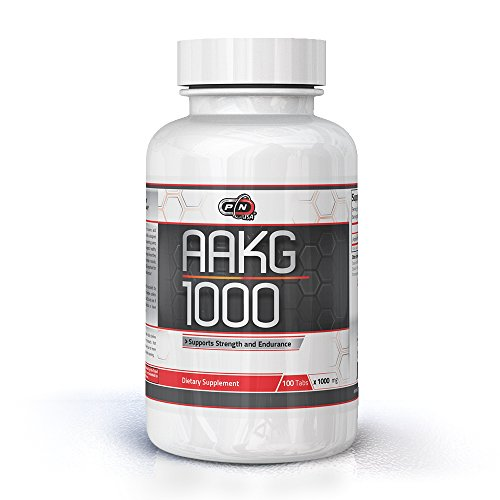 Pure Nutrition USA AAKG Powder Pre Workout L Arginine Conditionally Essential L-Arginine Amino Acid Sports Nutrition Fitness Bodybuilding Weight Lifting Cross Fit Training Supplement (100 Tabs)