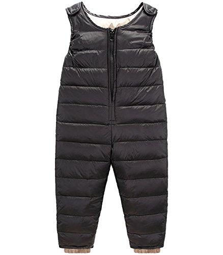 JELEUON Baby Girls Boys One Piece Sleeveless Snowsuit Romper Winter Warm Puffer Jacket Outwear Jumpsuit 4T by JELEUON
