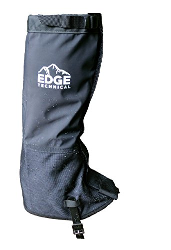 Edge Technical High Leg Gaiters - Men's and Women's - Waterproof for Hiking Boots, Hunting, Snowshoeing, Mud and Outdoors