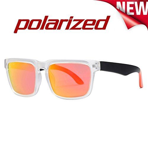 JULI D710 Moda Hombre Mujer Rojo Polarizadas de Blanco Deportes Gafas sol Fn6wCrpFqx