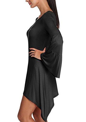 Dama Vestidos Joven Moda Mujer Tops Asimetricas Vestido Spring Otoño Temporada Casual Sencillos Camisetas Trompeta Mangas Disfraz Túnica: Amazon.es: Ropa y ...