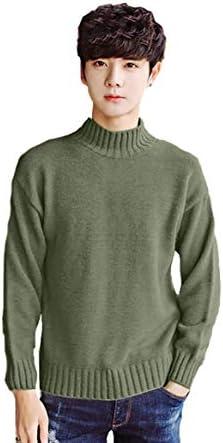 ニット セーター メンズ 秋冬 ビジネス 綿 タートルネック 無地 ゆったり 防寒 大きいサイズ M-XXXL(ホワイト,L)