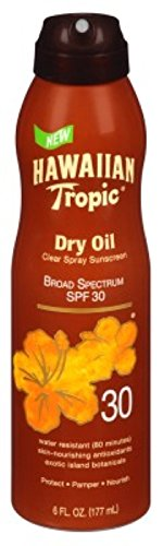 Hawaiian Tropic Protective Tanning Dry Oil Continuous Spray,