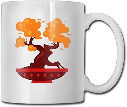 Arsmt Orange Bonsai Tree Custom Coffee Mugs 11 Oz Office Gift Ceramic Tea Cup Amazon Co Uk Kitchen Home