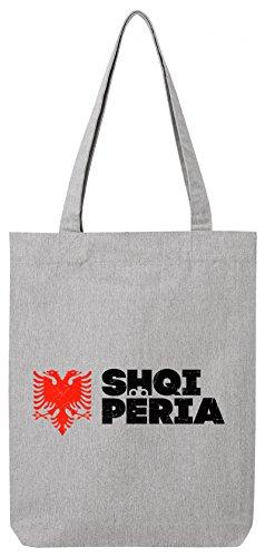 ShirtStreet Länder Wappen Tirana Länder Premium Bio Baumwoll Tote Bag Jutebeutel Stanley Stella Flagge Albanien 2 Heather Grey wTHQBn
