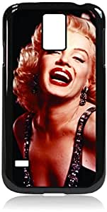 Marilyn Monroe Laughing -Color- Hard Black Plastic Snap - On Case-Galaxy s5 i9600 - Great Quality!