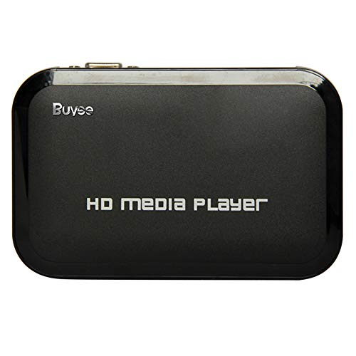 Buyee Portable HD for 1080P Resolution Multi Media Player 3 Outputs Hdmi, Vga, Av, 2 Inputs Sd Card & USB Reader for Hdds or Pen Drives, Digital Auto-play & Loop-play]()