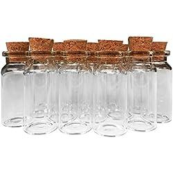 Axe Sickle 10ml Cork jar Glass Bottles,48 Pcs DIY Decoration Mini Glass Bottles Favors,Mini vials Cork,Message Glass Bottle Vial Cork,Small Glass Bottles Jars Corks, Wedding Decoration, Party Favors