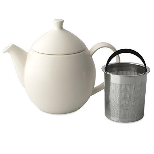 FORLIFE Dew Teapot with Basket Infuser, Natural Cotton, 32 o