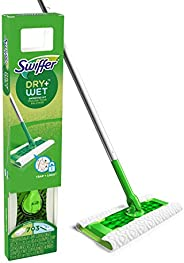 Swiffer Sweeper Dry + Wet All Purpose Floor Mopping and Cleaning Starter Kit with Heavy Duty Cloths, Includes: