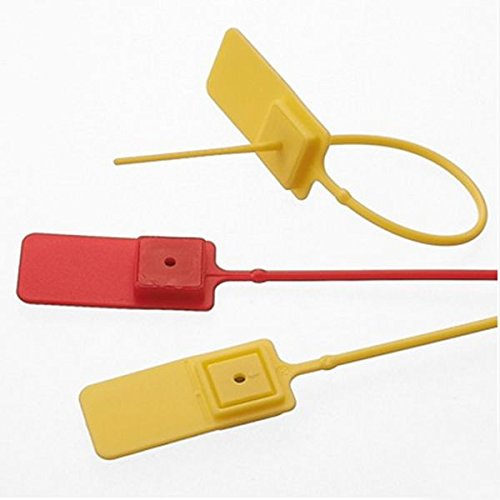 Plastic Seal Cable Tie Security 30pcs Easy To Lock, Disassemble.this Is A One-time, Can Not Be Opened Once Sealed, Excellent Safety