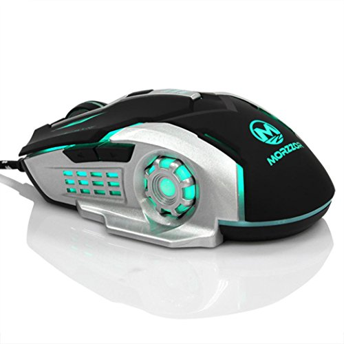 3200 DPI with 6 Buttons Wired 2.4G Optical Gaming Mice Mouse For PC Laptop (Black)