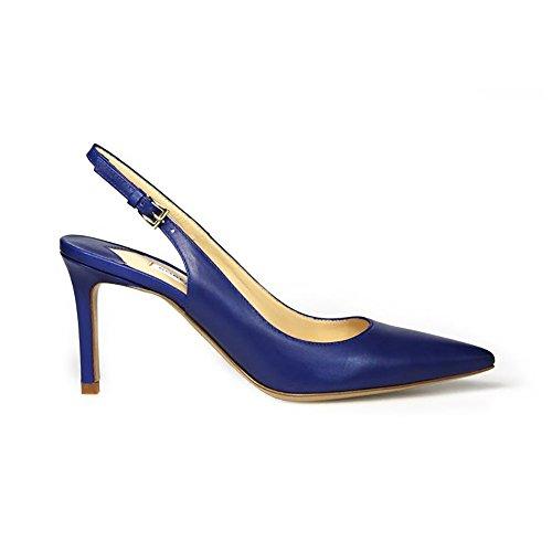 Femme 85001OBLU Festa Bleu Escarpins Cuir Roberto p5qSwOvxO