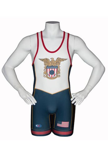 820b78e8e3 Cliff Keen USA Wrestling Singlet NAVY Sublimated Folkstyle Freestyle Greco  S79CKEGL (M)