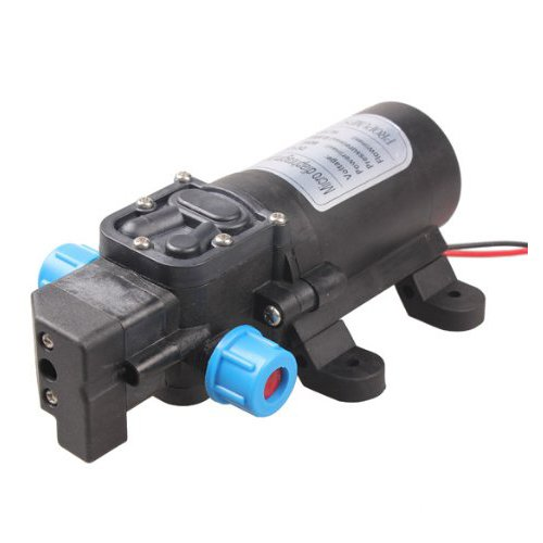 TOOGOO Black DC 12V 60W high-pressure mini membrane water pump automatic shutdown 5L / min