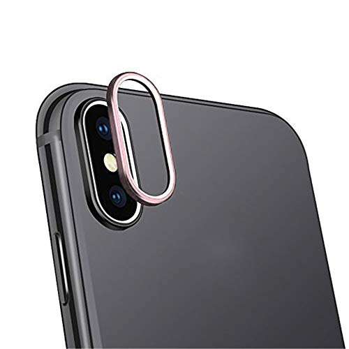 SHL 9H Hardness Back Camera Lens Tempered Glass Film Protector Cover For iPhone XS Max 6.5 inch (Rose Gold)