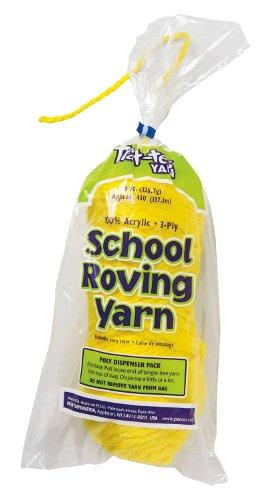 Trait-tex 3-Ply School Roving Yarn Skein, Yellow, 150 (Pacon Acrylic Roving Yarn)