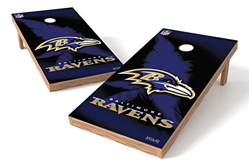 (Wild Sports NFL Baltimore Ravens 2' x 4' Authentic Cornhole Game)