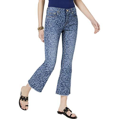(Michael Michael Kors Womens Petites Denim Light Wash Flare Jeans Blue 6P)