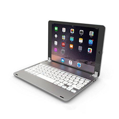 "Price comparison product image Apple iPad Bluetooth Keyboard,Sunfei Wireless Bluetooth Keyboard Case for Apple iPad 5/iPad 6/iPad Pro 9.7"" (Sliver)"