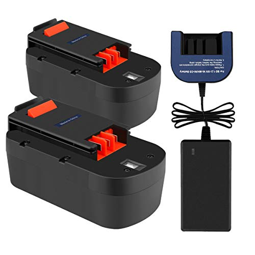 (Exmate 2 Pack 18V 3.5Ah Ni-MH Replacement Battery with 7.2V-18V Multivolt Charger for Black and Decker HPB18 HPB18-OPE HPB18-OPE2 FSB18 A18)