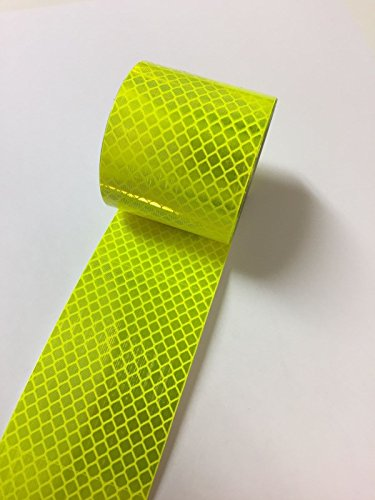 Paper Street Plastics Reflective Tape (3M Fluorescent Yellow/Green, 3/4 inch x 25 ft) ()
