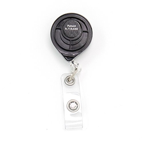 Buttonsmith Deluxe Retractable Badge Reel with Pin Back and Extra-Long 36 inch Standard Duty Cord - Made in The USA, 1 Year Warranty