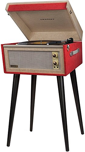 Crosley CR6233D-RE Dansette Bermuda Portable Turntable with Aux-in and Bluetooth, Red by Crosley (Image #2)