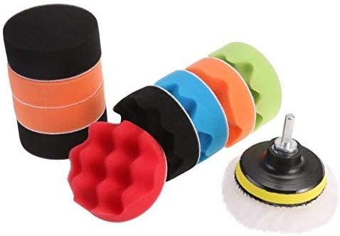 Hss Puffer 12 Polieren Pads Schwamm Aus Wolle Polieren Polieren Waxing Kit Auto Auto Mit M10 Hss Adapter 3 Zoll Auto